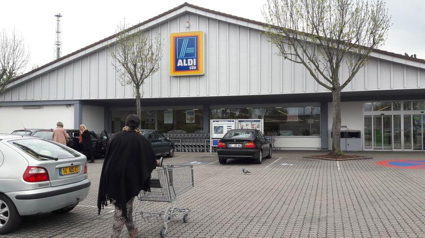 Parking d'Aldi à Kehl, en avril 2017