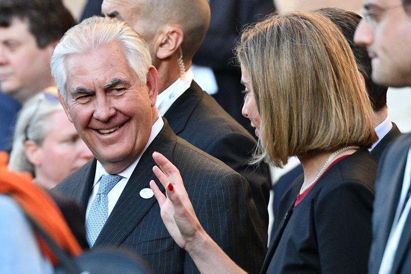 Rex Tillerson au G7 organisé à Lucques en Toscane le 10/04/17