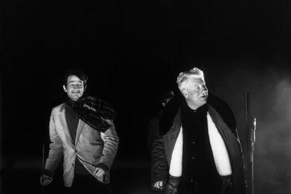 Jean-Paul Belmondo, et Jean Gabin dans Un singe en hiver, le film de 1962 d'Henri Verneuil