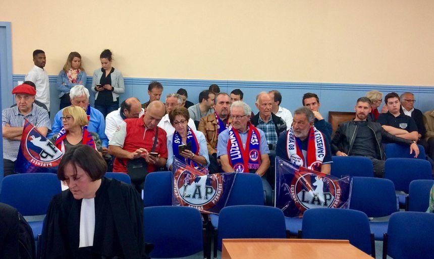 les supporters de Luzenac présents à l'audience du tribunal administratif de Toulouse