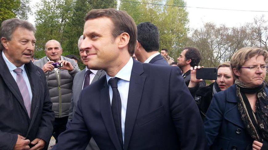 Emmanuel Macron à Oradour.