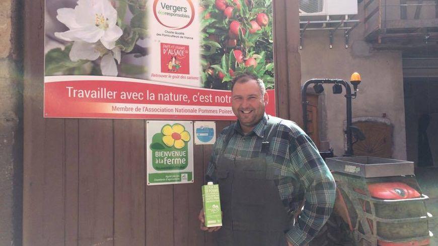 Daniel Dettling, producteur de pommes à Westhoffen et président de l'Association Production fruitière intégrée d'Alsace