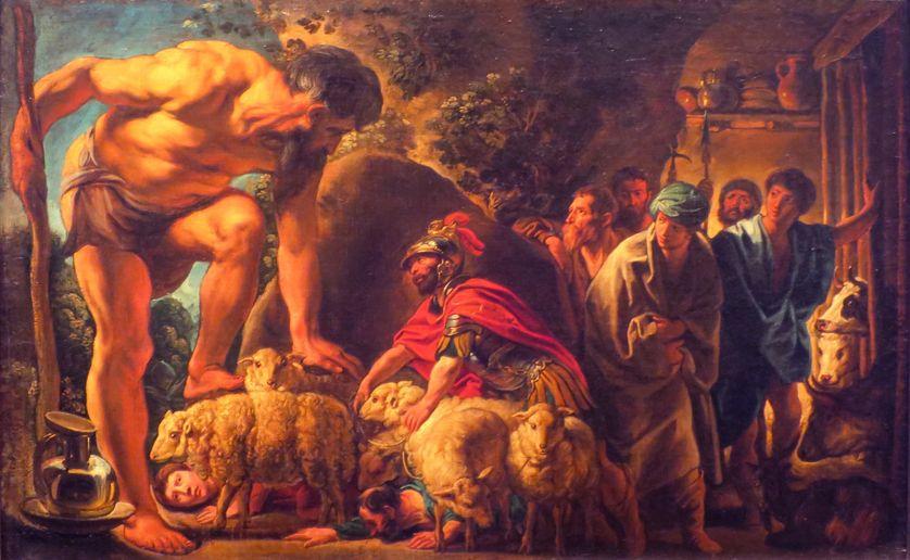 Odysseus in the Cave of Polyphemus par le peintre Jacques Jordaens / wikipédia