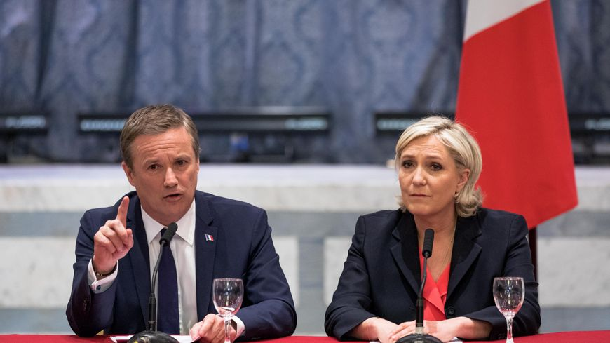 Le leader de Debout la République Nicolas Dupont-Aignan s'est rallié à la candidate du FN Marine Le Pen samedi 29 avril.