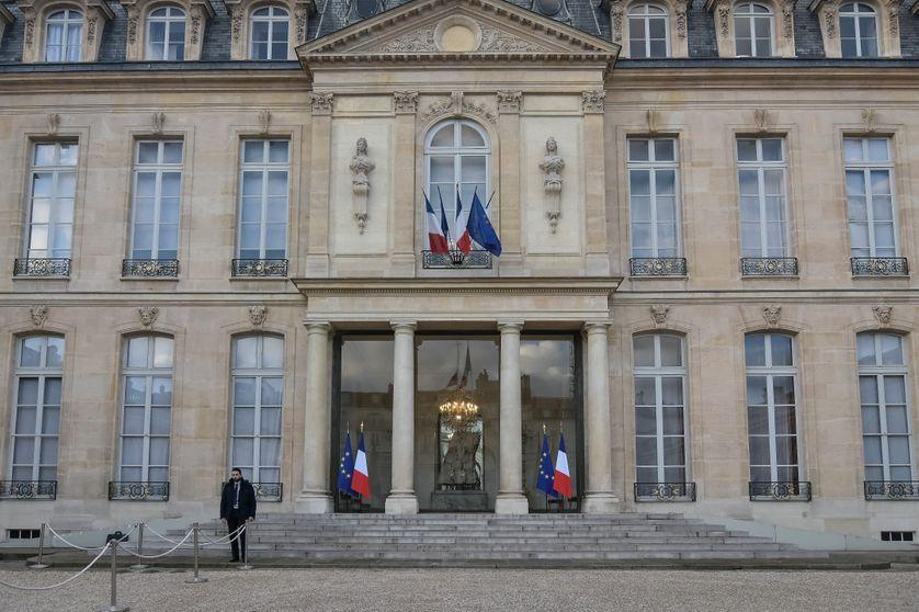 La façade du Palais de l'Elysée