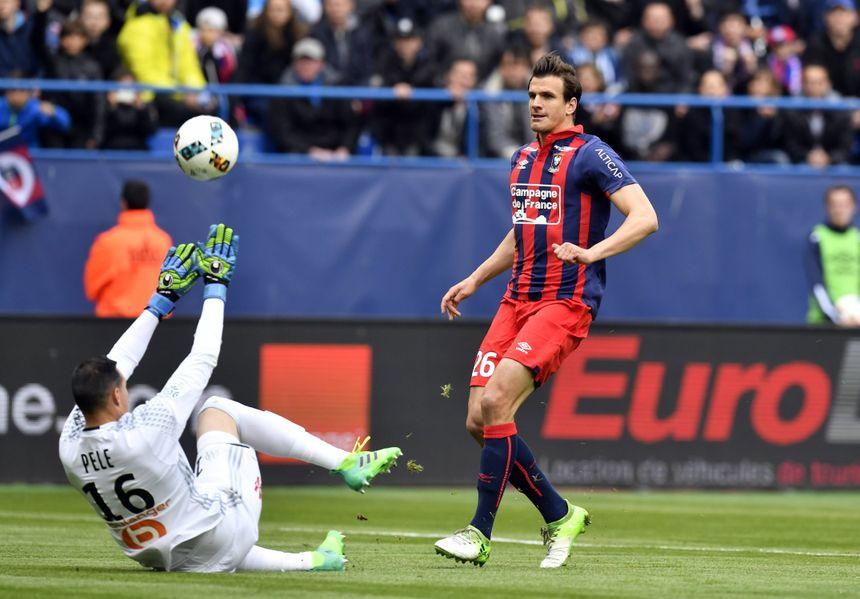 Ivan Santini a marqué son 14ème but de la saison en Ligue 1, pour rien, au final...