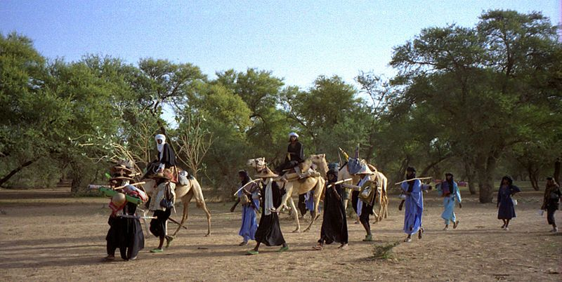 Traveling Wodaabe. Photographed 29 June 1997 in Niger.