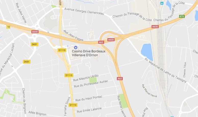 Les Roms étaient logés près du Casino de Villenave-d'Ornon.