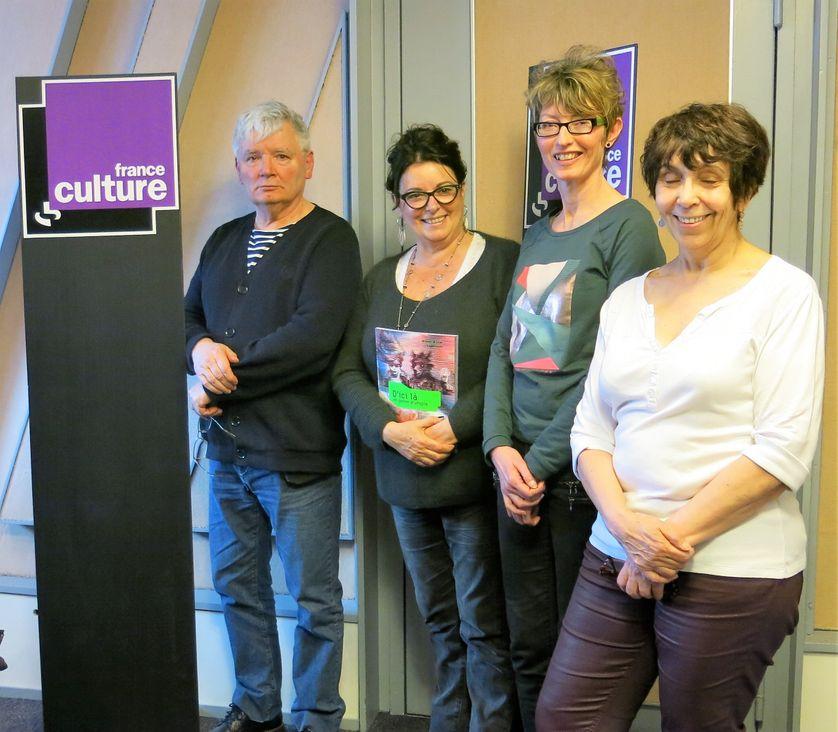 France Culture, studio 152... Christian Bruel, Aline Pailler, Katy Couprie & Yvanne Chenouf (de g. à d.)