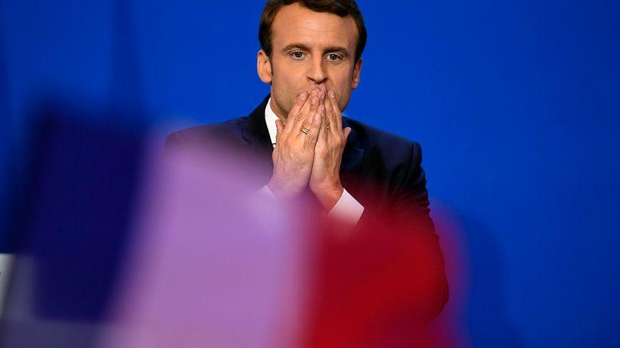 Emmanuel Macron après sa qualification pour le second tour de la Présidentielle