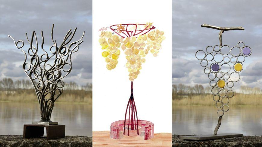 Les 3 projets de sculpture pour la ville de Montlouis