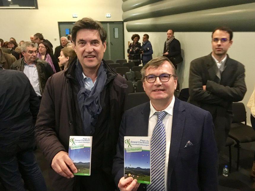 Jérôme Denoix Directeur chez Hachette et Dominique Adenot Pdt du PETR du Grand Clermont