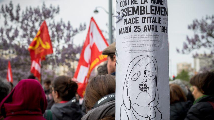 Rassemblement contre l'extrême-droite du 25 avril 2017 à Paris à l'appel du PCF