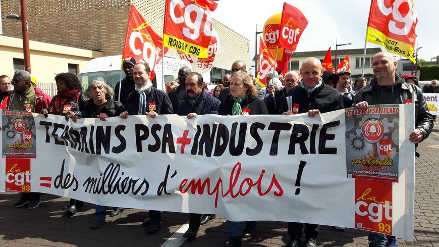 Le secrétaire général de la CGT, Philippe Martinez, est venu manifester à Aulnay-sous-Bois