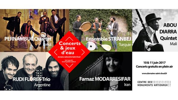 Concerts et jeux d'eau au Domaine national de Saint-Cloud - édition 2017