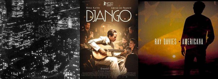 """Couverture Album """"Sincerely, Future Pollution"""", et """"Americana"""" et affiche film """"Django"""""""