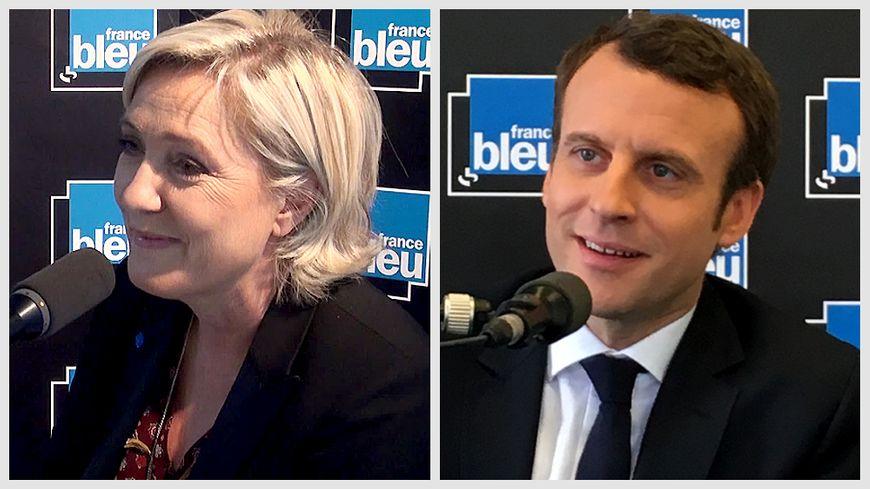 Marine Le Pen et Emmanuel Macron invités de France Bleu respectivement vendredi 28 et samedi 29 avril 2017