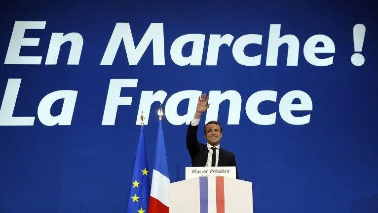 Emmanuel Macron à l'issue du premier tour