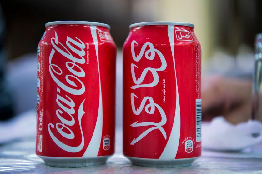 Coca-Cola, en langue perse (farsi)