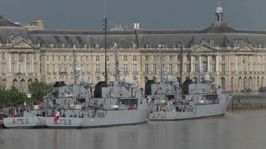 4 navires de la Marine Nationale en escale à Bordeaux