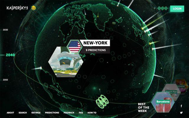La Terre est modélisée en 3D, avec plusieurs points accessibles