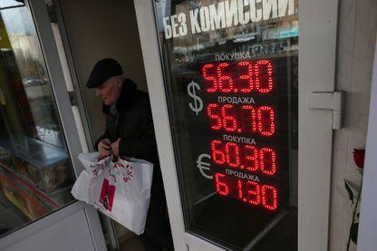 Taux de change entre le rouble, le dollar et l'euro.