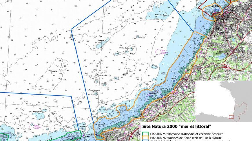 Les 4 zones Natura 2000 de la côte basque