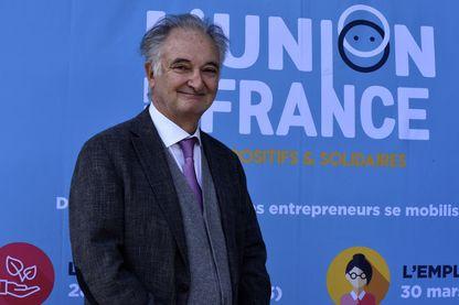 Jacques Attali le 6 avril 2017, Porte de la Chapelle