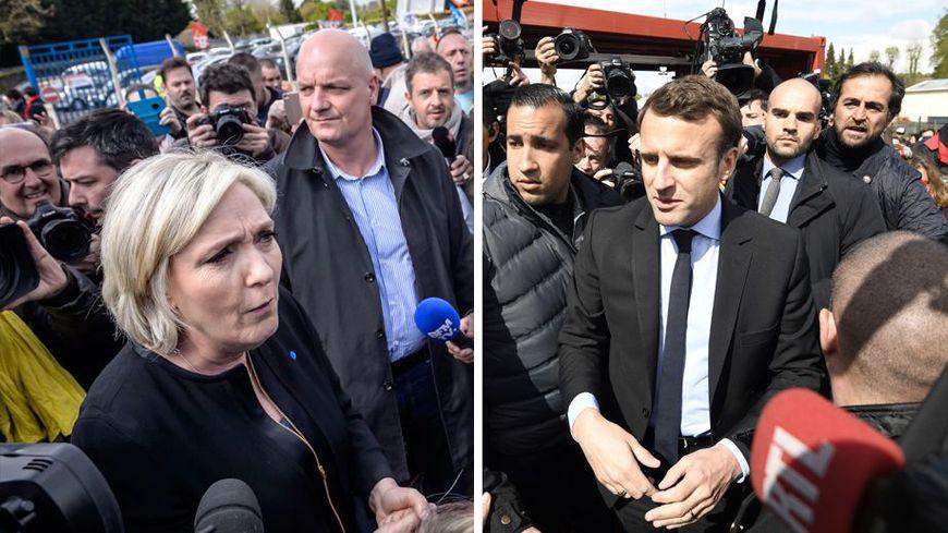 Marine Le Pen et Emmanuel Macron se sont rendus à tour de rôle sur le site Whirlpool, à Amiens.