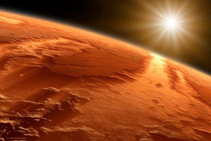 Vallée de Marineris sur la planète Mars