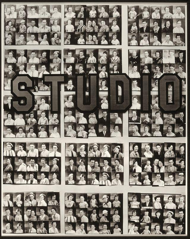 Vitrine d'un studio de portraits photographiques, 1936