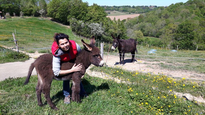 Angèle Bazin, productrice de lait bio à Castelnau Tursan (Landes)
