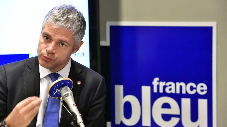 Laurent Wauquiez dans le studio de France Bleu Saint-Étienne Loire