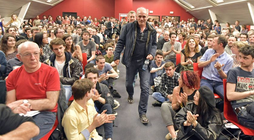 Philippe Poutou en meeting à Nantes le mercredi 29 mars 2017