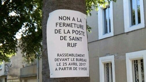 Mobilisation pour la Poste d'Avignon St Ruf