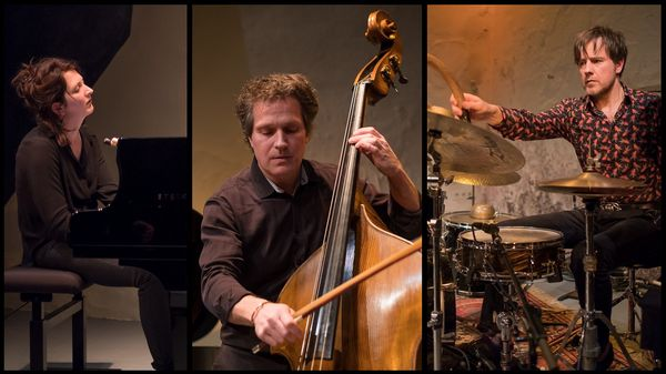 Le trio En Corps (Eve Risser, Benjamin Duboc et Edward Perraud) à l'Atelier du Plateau