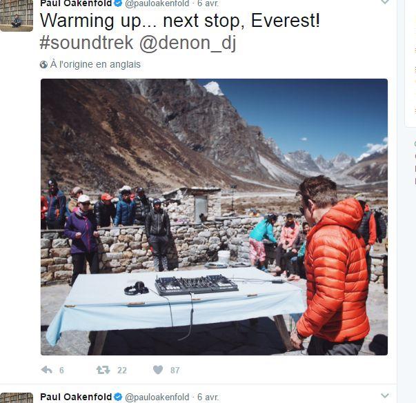 capture d'écran du compte twitter de Paul Oakenfold