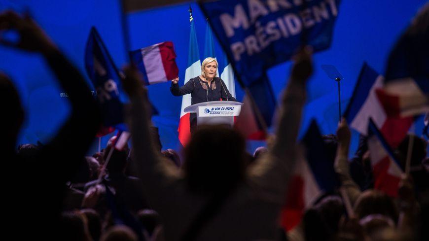 Marine Le Pen en meeting à Metz le samedi 18 mars 2017