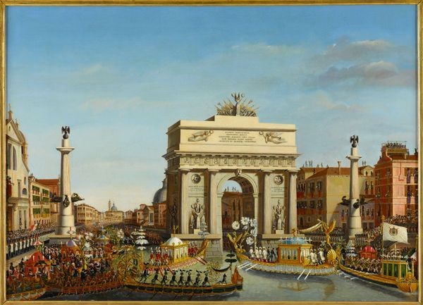 L'empereur Napoléon Ier préside la régate à Venise le 2 décembre 1807, 1814 de Giuseppe BORSATO (1770-1849). Huile sur toile Versailles, musée national des châteaux de Versailles et de Trianon, inv. MV. 1447