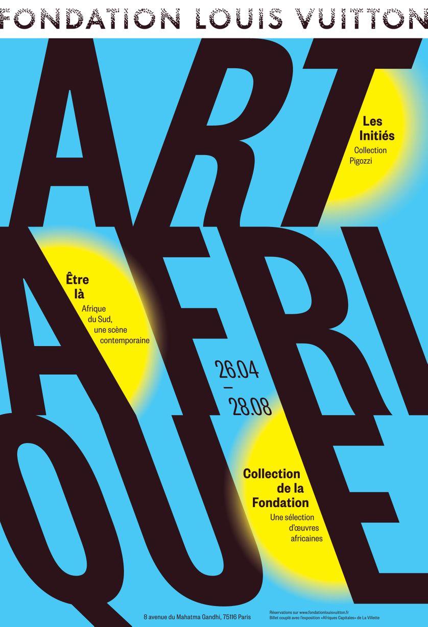 """Affiche exposition """"Art/ Afrique, Le nouvel atelier"""""""