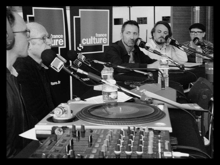 De gauche à droite Matthieu Conquet, Alain Planès, Xavier Veilhan, Cosmic Neman et Etienne Jaumet