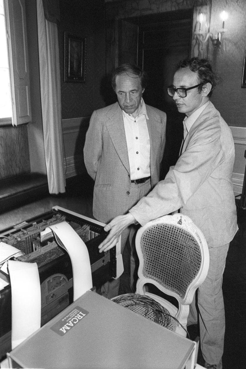 Pierre Boulez et Peppino Di Giugnio au début des années 80 à l'IRCAM