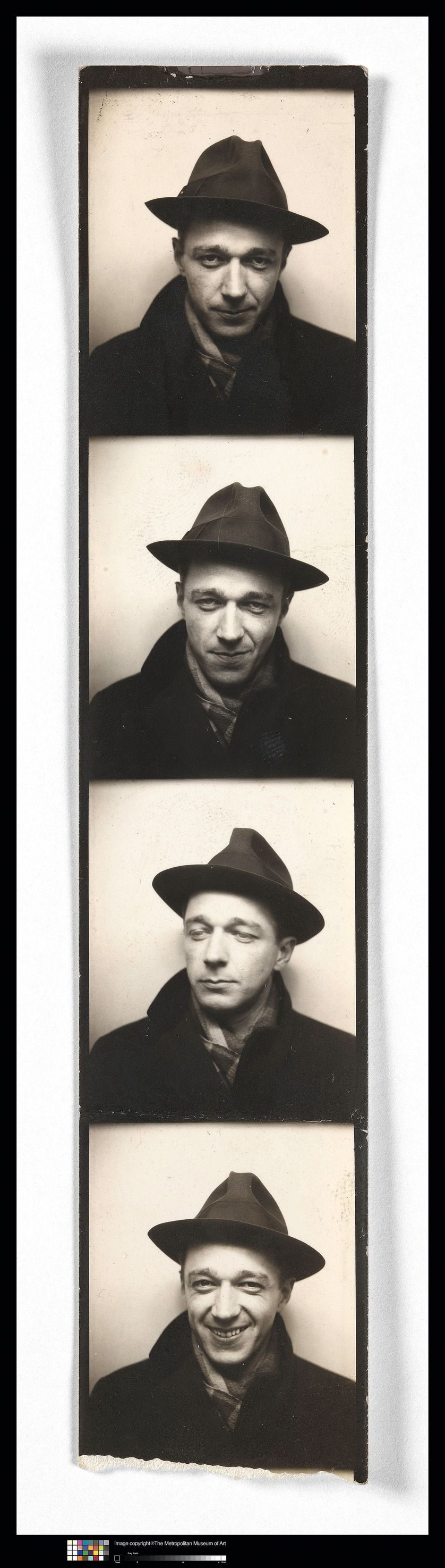 Walker Evans, Self Portrait in Automated Photobooth