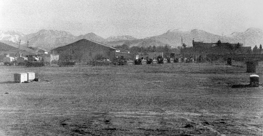 Les troupes soviétiques arrivent à l'aéroport de Kaboul, le 31 décembre 1979