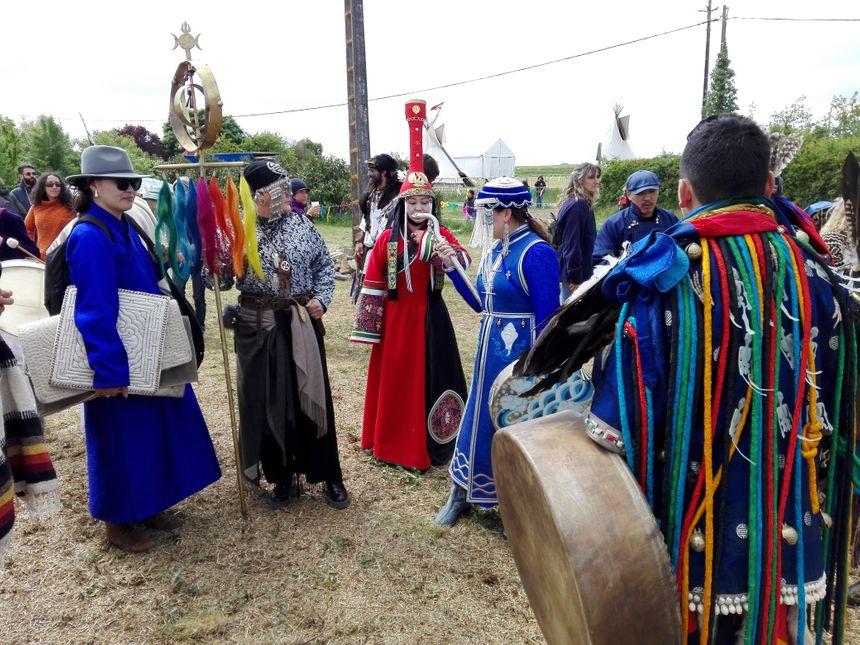 La délégation mongole