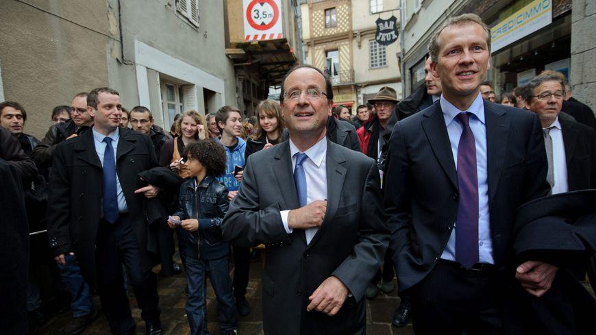 François Hollande lors de sa venue en Mayenne en 2012