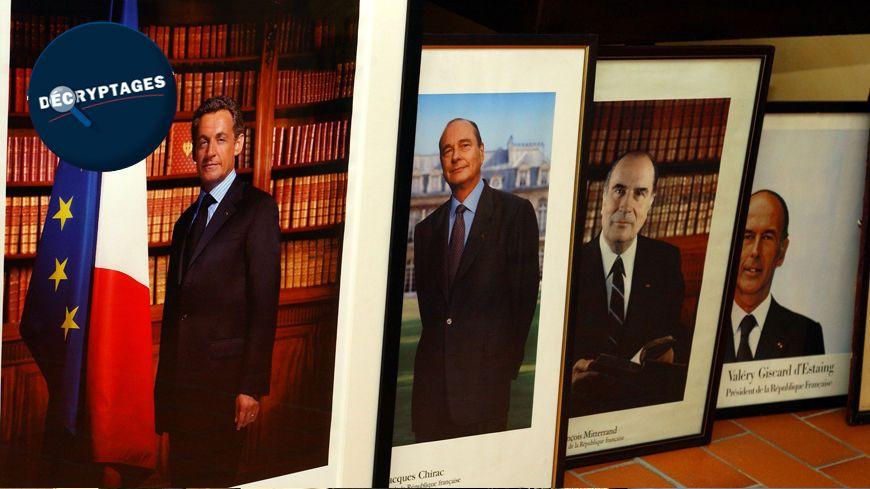 Les portraits d'anciens Présidents de la République.