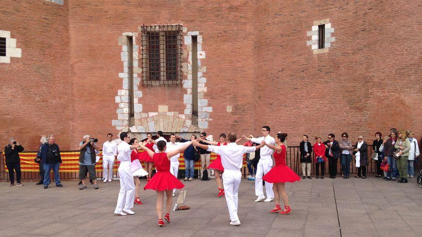 C'était le 3ème concours de sardanes à Perpignan.