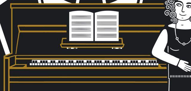 Focus sur le piano de la couverture du Piano oriental de Zeina Abirached