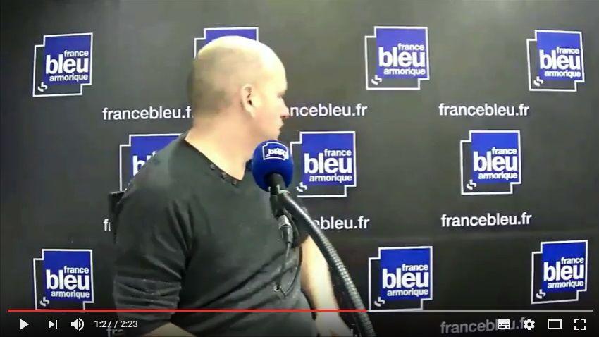 Capture d'écran du bêtisier de France Bleu Armorique